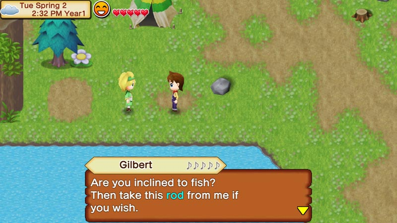 Fishing harvest moon seeds of memories pookpuk for Fishing rod sun and moon