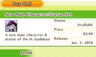 A new male character & statue of the H. Goddess!