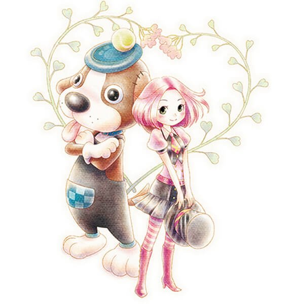 Stephanie & Woofio - Story of Seasons: Trio of Towns