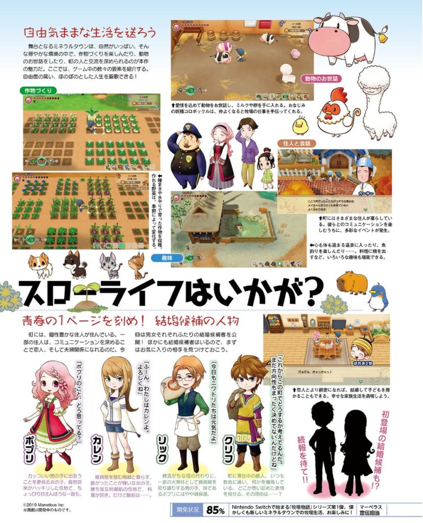 Famitsu scan 2019-07-08 - Story of Seasons: Friends of Mineral Town - page 02